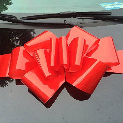 yeeper-hochzeits-auto-bow-band-schleife-kunststoffband-autodeko-rot