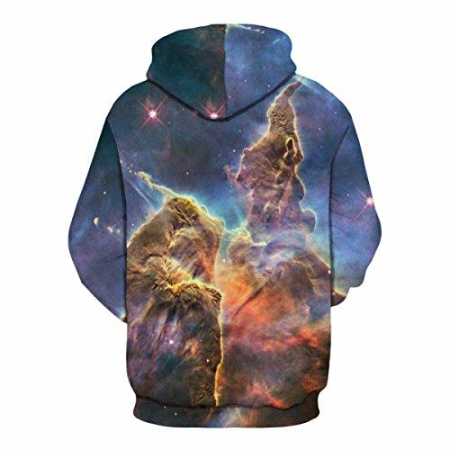Sweatshirt Hoodies 3D Print Drawstring Capuche à Manches Longues Casual Sportswear Respirant Jumper Avec Big Poche Pour Hommes Ou Femmes Ou Couples Bluepurple