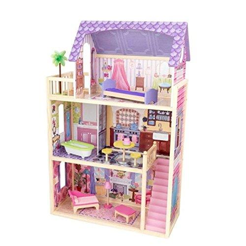 Kidkraft 65092 Casa delle Bambole in Legno Kayla per Bambole di 30 Cm con 10 Accessori Inclusi e 3...