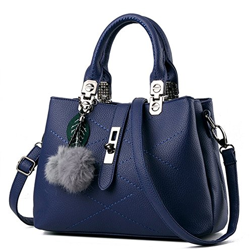 Eysee, Borsa tote donna nero Light grey 29cm*21cm*13cm Blue