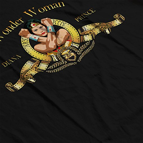 Wonder Woman Diana Prince MGM Lion Men's Vest Black