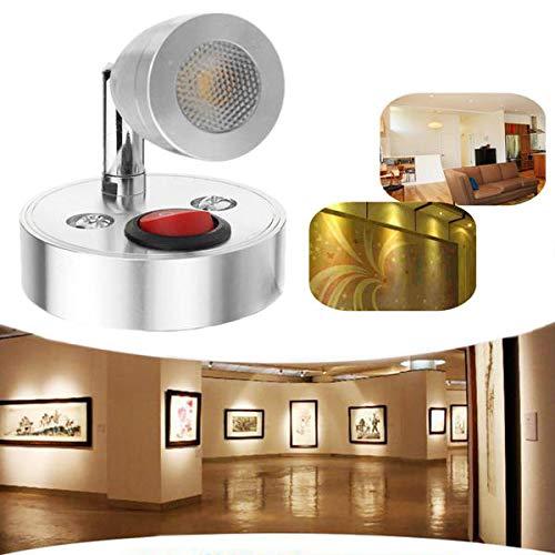 Global 12V 3W Innen LED Spot Leselampe mit Schalter für Caravan Nachttisch Wandschrank Schrank Licht -