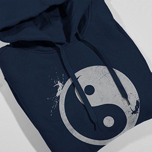 Yin Yang Surfer Outside Women's Hooded Sweatshirt Navy Blue