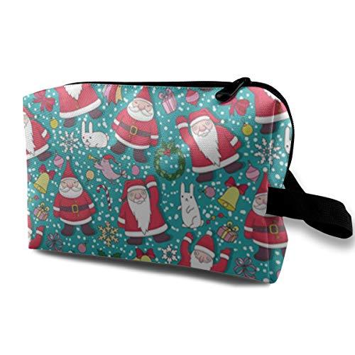 Cute Christmas Portable Travel Makeup Bolsas cosméticos