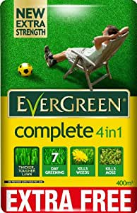 EverGreen 360sqm Complete 4-in-1 Lawn Care, Lawn Food, Weed and Moss Killer Bag