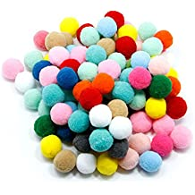 100pcs Pompones de Bola Pom Poms del Craft (2cm) 76fa68eb7c5