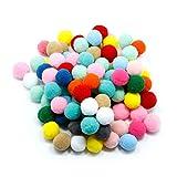 100pcs Pompones de Bola Pom Poms del Craft (2cm)