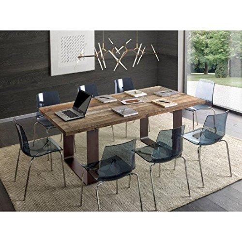 Estense – Table Design en Bois Massif chêne – Art. PT 002 GA 002