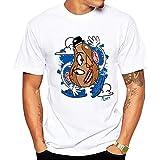 DFCD 3D-weiß gedruckt Shirt T-Shirt Mr. Picasso T-Shirt Männer T-Shirt T-Shirt Mit Cartoon-Print Eltern-Kind-Anzug und Hemd grundiert (Farbe : White, Size : S)