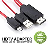 #9: Exosis Micro USB MHL to HDMI Cable Adapter HDTV Compatible with All Smartphones