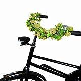 DRULINE Fahrraddeko Blumenkette Blumengirlande Fahrrad Blumen Fahrradblumenkette Blassgelb