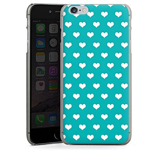 Apple iPhone X Silikon Hülle Case Schutzhülle Herzchen Türkis Muster Hard Case anthrazit-klar