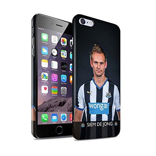 Offiziell Newcastle United FC Hülle / Glanz Snap-On Case für Apple iPhone 6+/Plus 5.5 / Pack 25pcs Muster / NUFC Fussballspieler 15/16 Kollektion De Jong