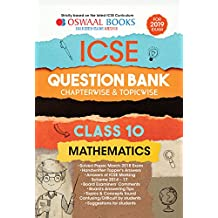 Oswaal ICSE Question Bank Chapterwise & Topicwise Class 10 Maths (Mar 2019 Exam)