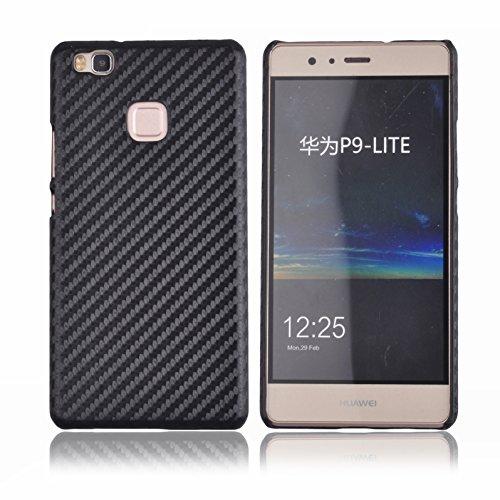 Voguecase® Per Huawei P9 Lite, Hard Skin Protettivo Skin Custodia Protettiva Shell Case Cover (Modello dot fine-nero) Con free Stilo Penna