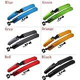 Logas Lot de 2 garde-boue avant et arrière pour VTT Bleu/vert/gris/orange/rouge/noir