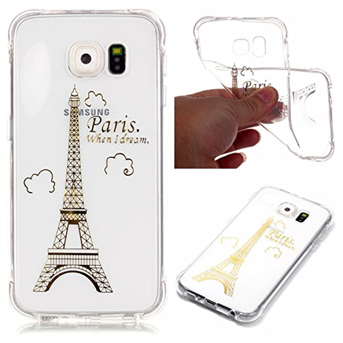 Qiaogle Telefon Case - Weiche TPU Case Silikon Schutzhülle Cover für Apple iPhone 7 (4.7 Zoll) - YY02 / I love you YY06 / Paris when I dream
