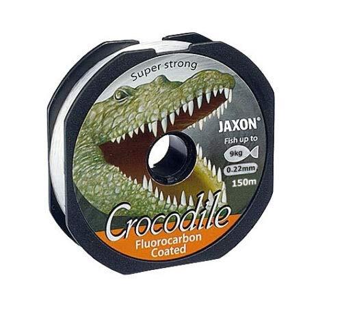 Jaxon Angelschnur Crocodile FLUOROCARBON Coated 2x150m Spule Monofile (150m/0,22mm/9kg)