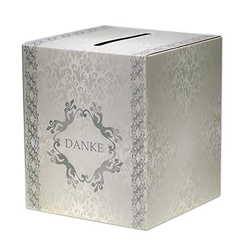Geldbox Hochzeit groß Geldgeschenke Briefbox EinsSein® ArtDeco Danke Vintage Geschenkkartenbox Hochzeitskarten Box Glückwunschkarten Danke Geschenkbox Schlitz Kuverts Geldscheine Behälter