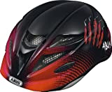 Abus Kinder Fahrradhelm Hubble, Red Scratches, 52-57 cm, 11480-9