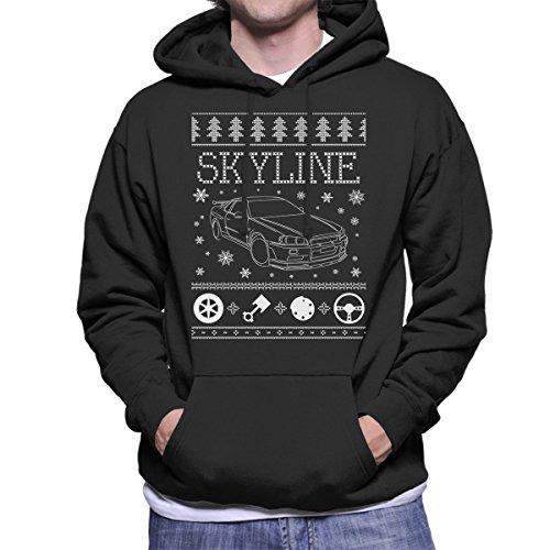Nissan Skyline Christmas Knit Men's Hooded Sweatshirt