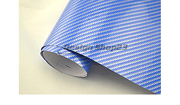 4 9 M 2d Carbon Folie Auto Folie Blau 2d Glanz 30 X 127 Cm Blasenfrei Selbstklebend Flexibel Car Wrapping Folie Auto Folieren Auto