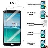 CABLING® Film Protecteur d'écran en VERRE TREMPE pour LG K8 4G Ultra Transparent Ultra Résistant INRAYABLE INVISIBLE pour LG k8 4g, K350N LG K 8