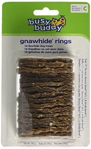 petsafe-busy-buddy-gnawhide-rings-natural-rawhide-refills-size-b