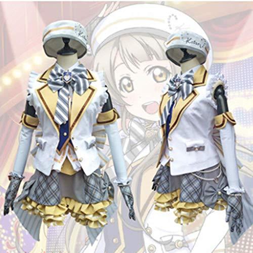 Love Kotori Kostüm Live - charous Anime Love Live Kotori Minami Cosplay Kostüm Halloween Kostüm Uniform Kleid für Frauen komplettes Set Gr. Medium, weiß