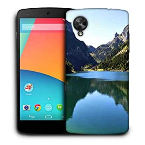 Snoogg Green River Printed Protective Phone Back Case Cover For LG Google Nexus 5