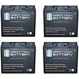 12V 18AH F2 Replacement Battery For Power Kingdom PS20P-12 - 4 Pack - Mighty Max Battery Brand Product