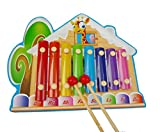 Weekendy Kinder Spielzeug Geschenk 8-Ton Forest Lodge Holz Xylophon Kind Octave Clappers Piano Percussion (bunt)