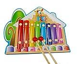 Giocattoli per Neonati e Bambini Colorful 8 Tones Lodge Forma Xilofono in Legno Bambini Octave Clappers Baby Piano percussioni Giocattolo