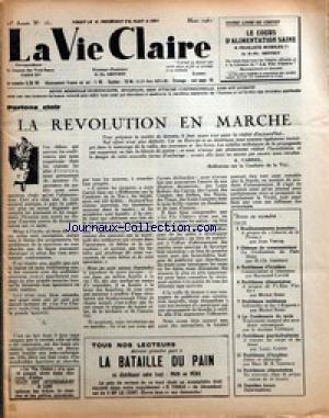VIE CLAIRE (LA) [No 161] du 01/03/1961 -...