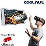COOLNUT C3DVRG-7 VR Headset Virtual Reality 3D Box Glasses Gear comes with Fully Adjustable VR Glasses for VR Video, Gaming, Movies, Pictures, for 4.6-6 inch Screen Phones, VR Glasses works with leading android, iOS based smartphone brands like Motorola, Samsung, Xiaomi, ZTE, HTC, Nexus, Apple iPhone, Micromax, Lenovo, OnePlus, Redmi, etc