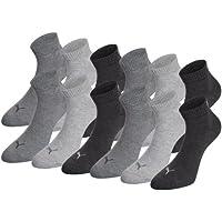12 Paar PUMA Quarter Sportsocken (Kurzsocken) für Damen und Herren im Vorteilspack