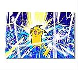 Hcxbb-f Wall Sticker, 80x120cm, Toile Personnalisé Peint Pokemon Pikachu Poster Monstre De Poche Fond D'écran Japon Anime Comics Accueil Décoration...