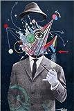 Posterlounge Alu Dibond 60 x 90 cm: der allegorische Mensch von Loui Jover