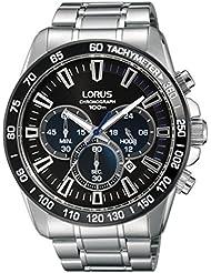 Reloj de pulsera Lorus Watches––Acero inoxidable–Cuarzo–45mm–10ATM–Stop–Reloj–Reloj cronógrafo Taquímetro rt317fx9