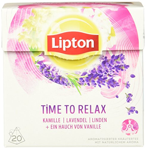 Lipton Kräutertee Time to Relax Pyramidenbeutel 3 x 20 Stück (Öl Verbannen)