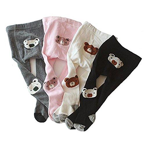 Liddon 4pc/lot calzamaglia dei calzamaglia dei capretti dei calzamaglia del cotone delle ragazze delle neonate (0-6m)