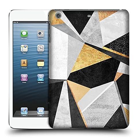 Offizielle Elisabeth Fredriksson Geometrie Gold Geometrisches Designs Und Muster Ruckseite Hülle für Apple iPad mini 1 / 2 / 3