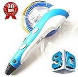 7TECH® 3D Druckstift mit LCD Bildschirm Hellblau gratis Spatula enthalten