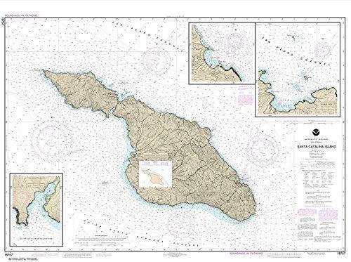 NOAA Chart 18757: Santa Catalina Island; Avalon Bay; Catalina Harbor; Isthmus Cove, 33.9 X 45.5, TRADITIONAL PAPER by NOAA - Avalon, Santa Catalina Island