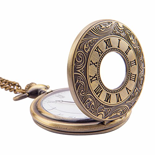 Kartique Half Hunter Pocket Watch | Roman Number Dial | Pendant | Necklace | Locket
