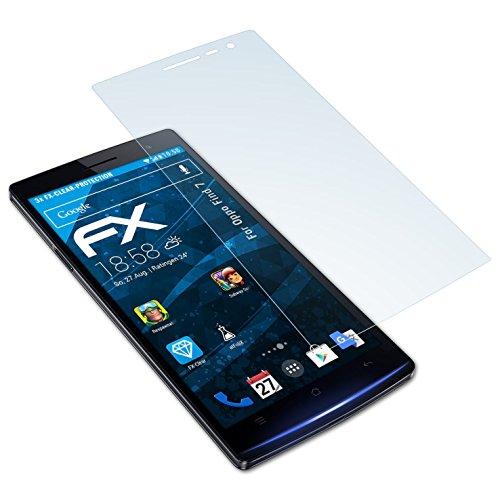 atFolix Schutzfolie kompatibel mit Oppo Find 7 Folie, ultraklare FX Bildschirmschutzfolie (3X)