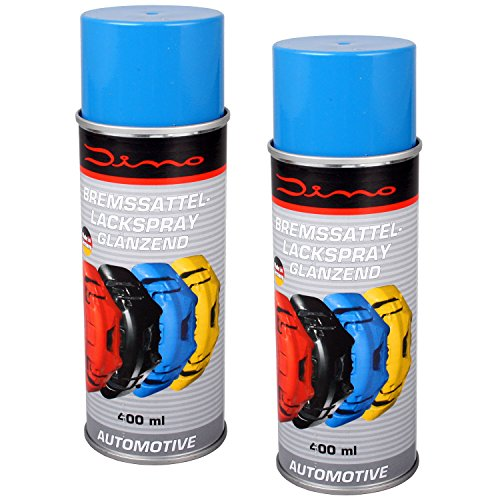 Dino 130091 Bremssattellack 1K Lackspray, Doppelpack 2x 400 ml, Blau