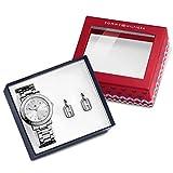 Tommy Hilfiger 2770012 Women's Holiday Box Uhr Damenuhr Edelstahl Ohrringe 30m Analog Silber
