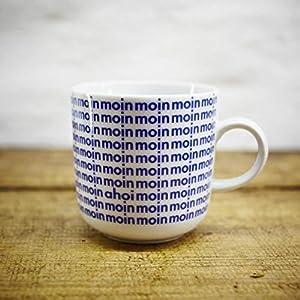 Kaffeebecher – Handmade von Ahoi Marie – Motiv Moin – Maritime Porzellan-Tasse original aus dem Norden