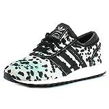 adidas Originals S80236 Los Angeles C Mädchen Sneaker Mesh EVA-Zwischensohle, Groesse 5, weiß/schwarz